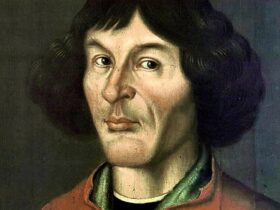 Nicolaus Copernicus portrait from Town Hall in Toruń - 1580)