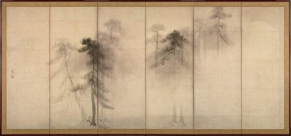 長谷川等伯「松林図屏風(左隻)」