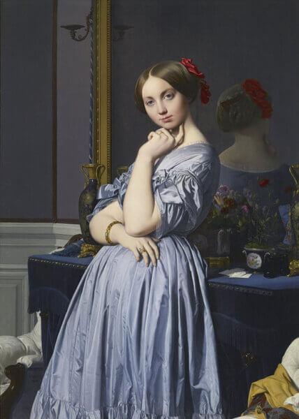 ジャン=オーギュスト=ドミニク・アングル《ドーソンヴィル伯爵夫人の肖像》