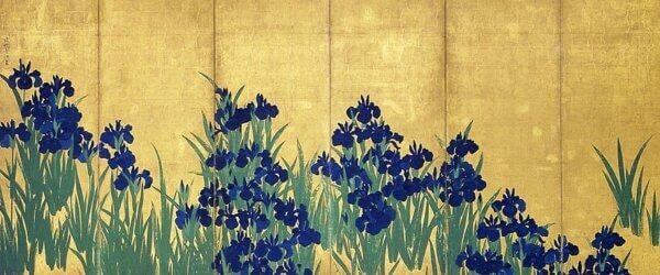 尾形光琳『燕子花図』(根津美術館所蔵) 左