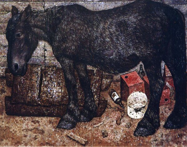 神田日勝 「開拓の馬」
