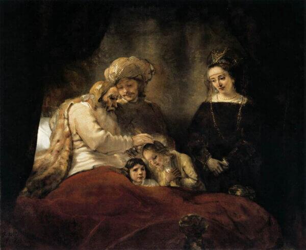 レンブラント 「ヨセフの子を祝福するヤコブ」